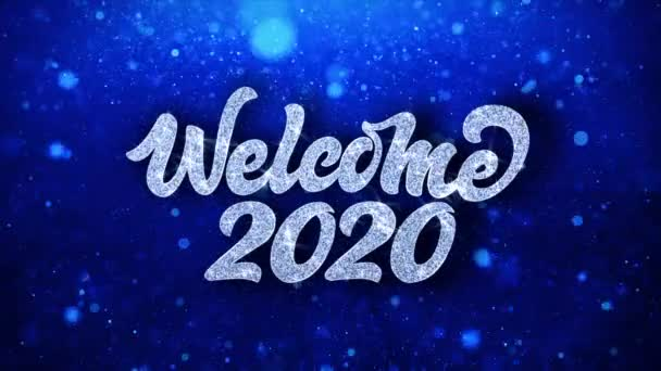 depositphotos 267503216 stock video welcome 2020 blue text wishes
